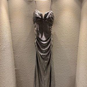 Adriana Papel silver elegant dress. Size 2